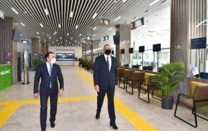 """Prezident İlham Əliyev 6 saylı Bakı """"ASAN xidmət"""" mərkəzinin açılışında iştirak edib"""
