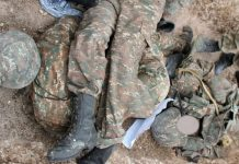 erməni hərbçisinin meyiti