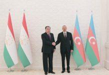 Azərbaycan Respublikasının Prezidenti İlham Əliyev və Tacikistan Respublikasının Prezidenti Emoməli Rəhmon