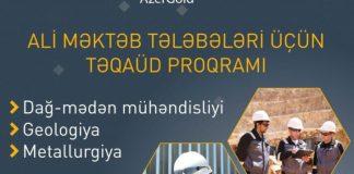 """""""AzerGold"""" ali məktəb tələbələri üçün Təqaüd proqramı elan edir"""