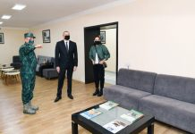 Qubadlı rayonunda Dövlət Sərhəd Xidmətinin yeni hərbi hissə kompleksinin açılışı olub