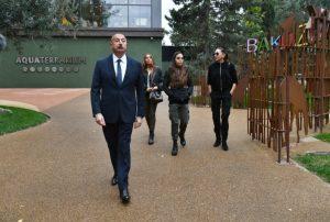Bakı Zooloji Parkının yenidənqurmadan sonra açılışı olub Prezident İlham Əliyev və birinci xanım Mehriban Əliyeva açılışda iştirak ediblər