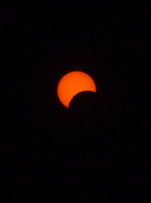 The eclipse begins!