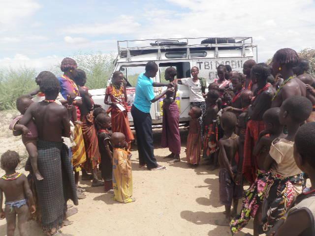 Vaccination against tetanus in Thuorim village of Ileret location