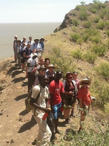 Field School students and TBI staff after the hike back up the crater.