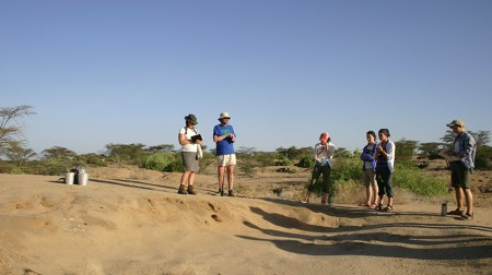Dr. Fortelius explains the importance of documenting observations of the surrounding area before any excavation.