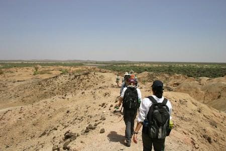 Trekking across Mid-Pliocene beds near TBI