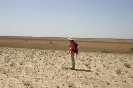 Kate looks out onto the Aiyangiyang Basin.
