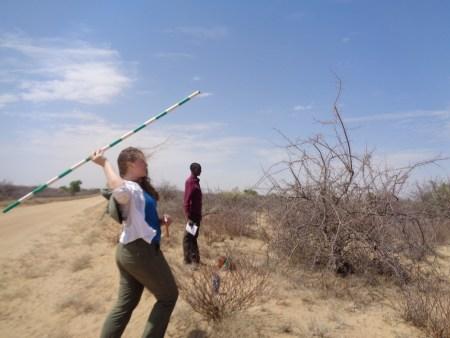Yvette throwing the jacob staff