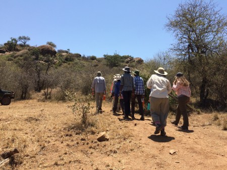 Students begin their trek up Mukenya!