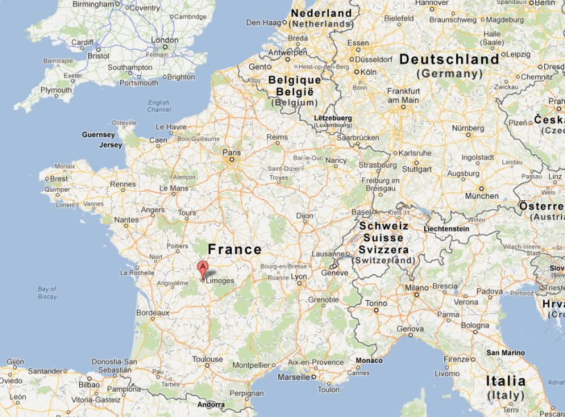 Limoges Map Full HD Pictures K Ultra Full Wallpapers - Limoges france map
