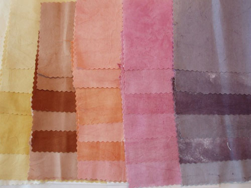 Dyed cotton fabrics from the second set of experiments