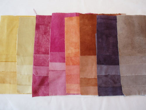 Dyed cotton fabrics from the third set of experiments