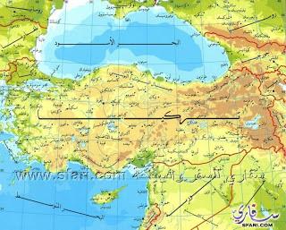 خريطة تركيا باللغه العربية للسياح العرب map turkey