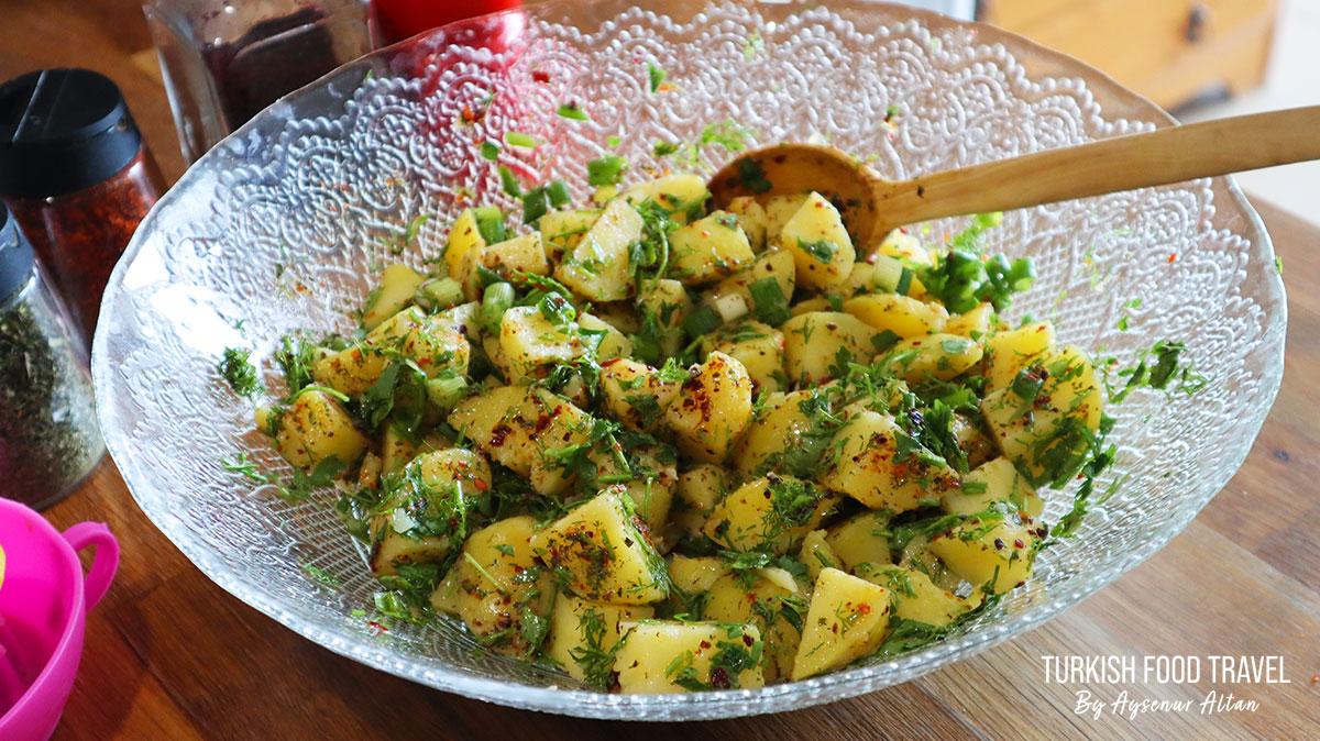 Turkish Style Potato Salad |  Vegan