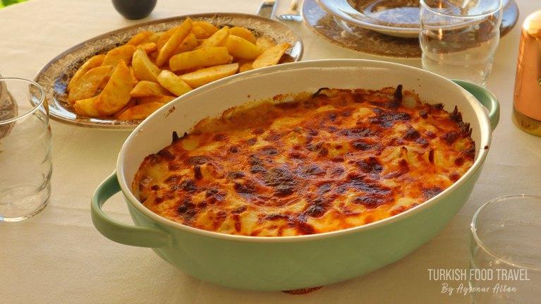 Chicken & Cauliflower Dish & Baked Potato