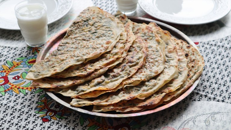 Turkish Gozleme Recipe With Cheese Spinach Filling