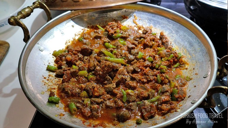 "Turkish Style Beef Stir fry ""SAC TAVA"" / Sac Tawa"