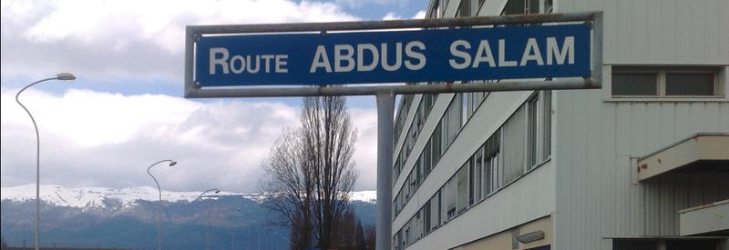 The road named after Salam in CERN, Geneva