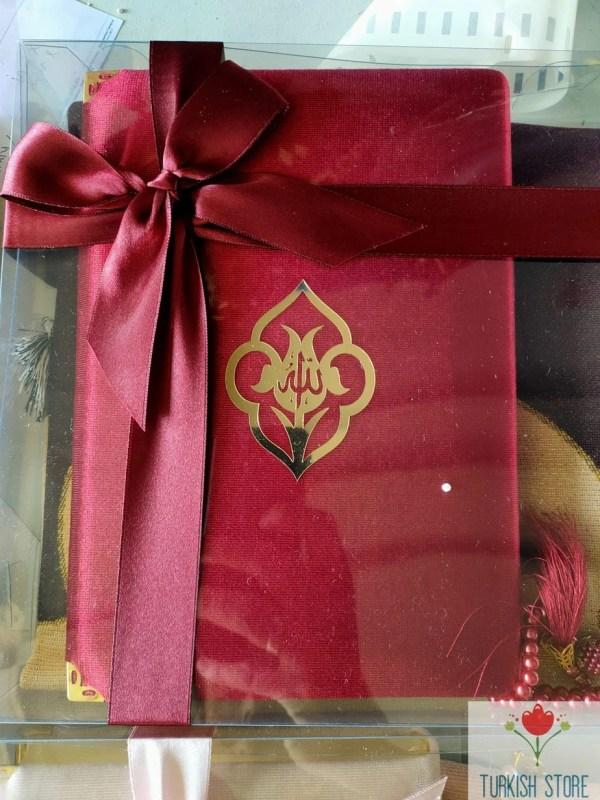 islamic gift set red