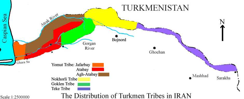 نقشه کامل ترکمنصحرا