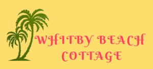 Whitby Beach Cottage green tree logo