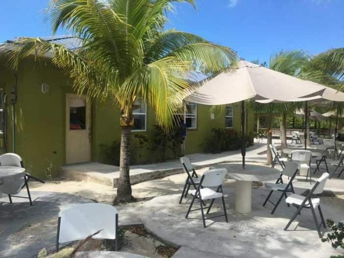 Cafe at the North Caicos Dock