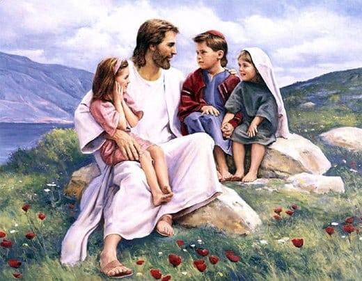 Image result for jesus to children