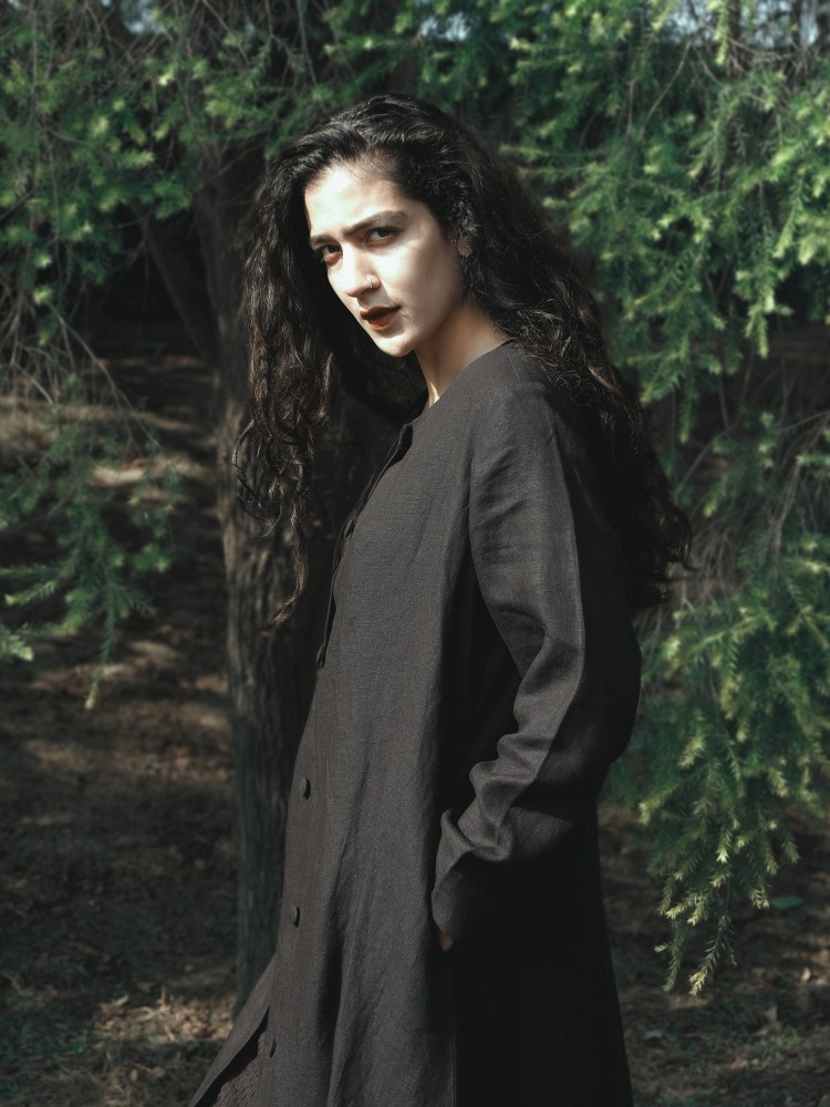 Black Long Linen Jacket