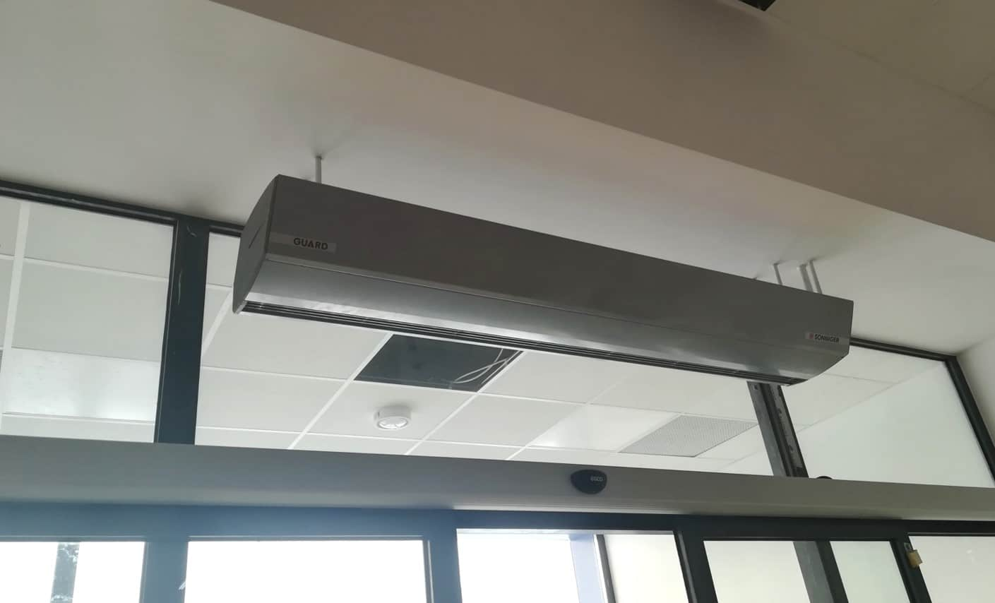 sonniger guard commercial air curtain lphw electric or ambient air