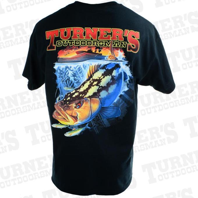 Turner S Outdoorsman Calico Bass T Shirt Black