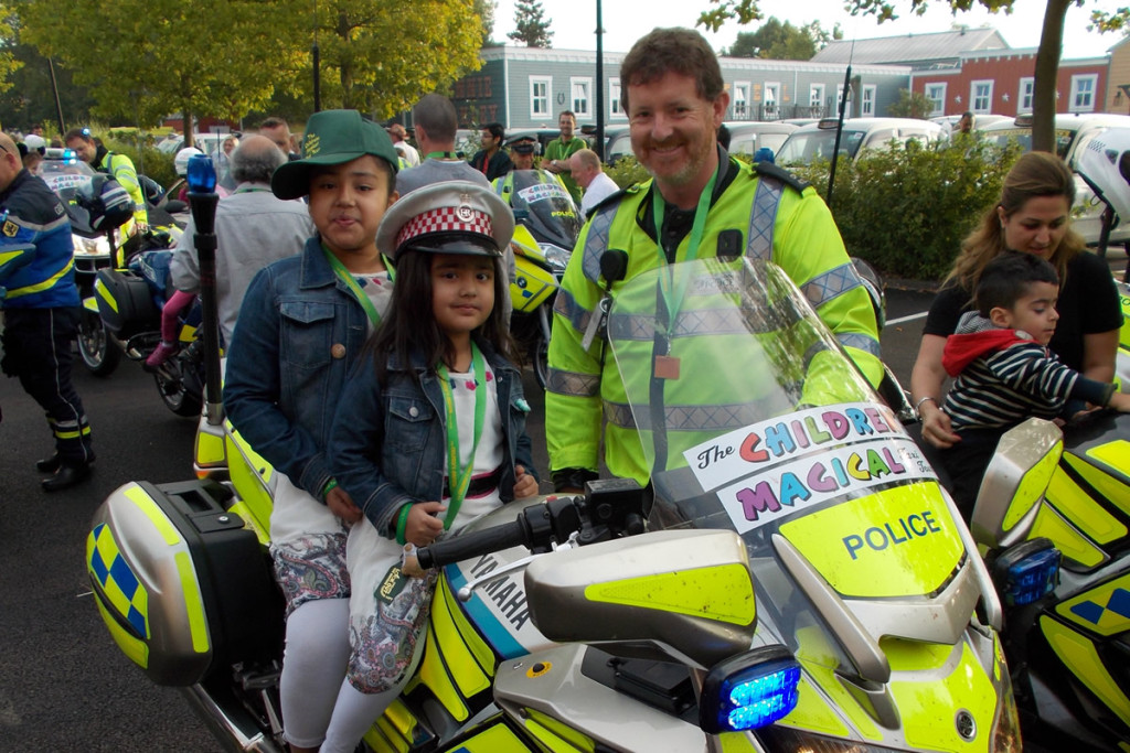 Children's Magical Taxi Tour police bike