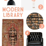 Modern Library with Kalaty Rugs