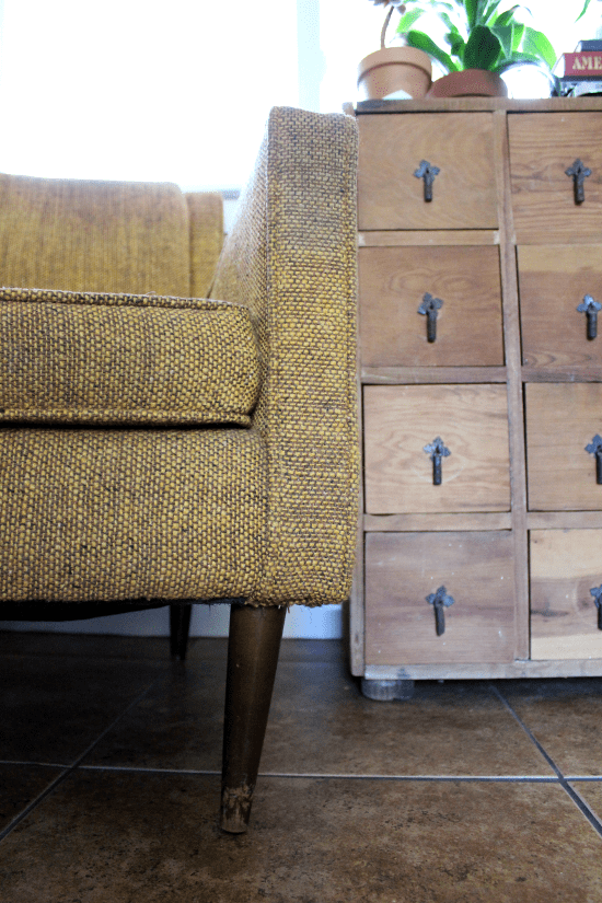 A New Tweed Chair - Turning It Home