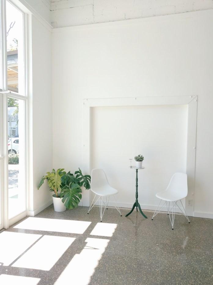 minimal decor, indoor plant, eames chair