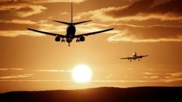 aircraft flying into sunset ex EU
