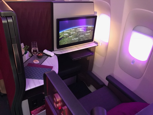 Qatar business class suite