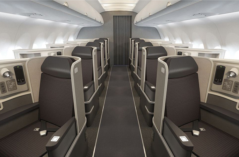 AA Transcon A321 business class review