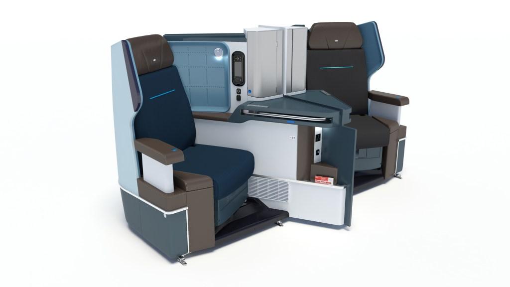 KLM B787 business class seats