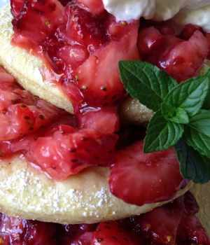 Strawberry Sourdough Shortcake