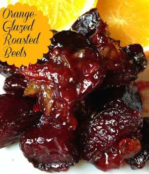 Orange Glazed Roasted Beets