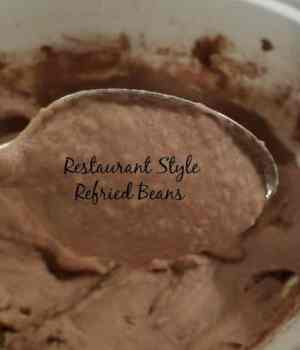 Restaurant Style Refried Beans and Refried Bean Torte