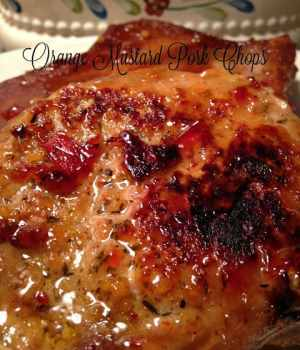 Orange Mustard Pork Chops and Mardi Gras
