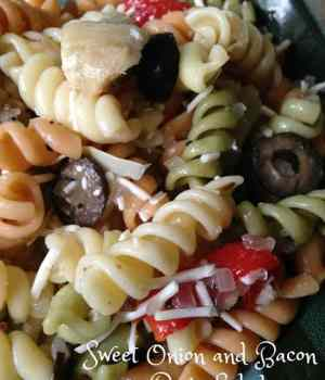 Sweet Onion and Bacon Pasta Salad