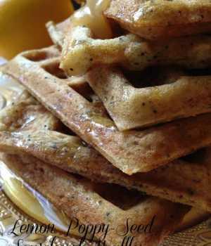 Lemon Poppy Seed Sourdough Waffles