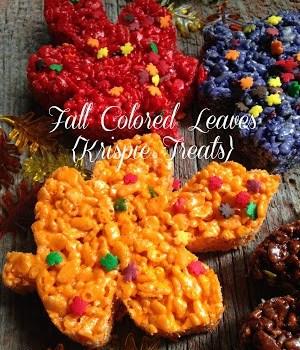 Fall Colored Krispie Leaves