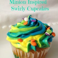 Minion Inspired Swirly Cupcakes