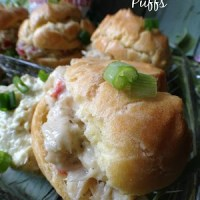 Saltfish Cod Puffs with Wasabi Dip