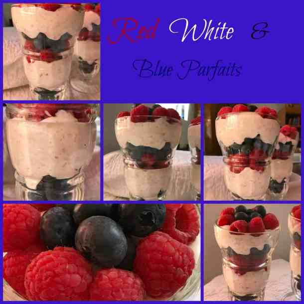 blue parfaits