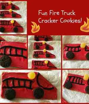 Fun Fire Truck Cracker Cookies